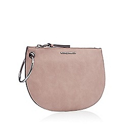 RJR.John Rocha - Lilac ring handle faux leather clutch bag