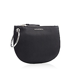 RJR.John Rocha - Black ring handle faux leather clutch bag