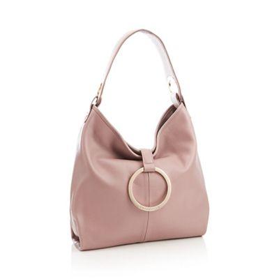 Rjr.John Rocha   Pale Pink Ring Leather 'hobo' Bag by Rjr.John Rocha