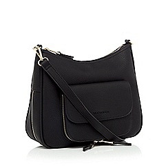 RJR.John Rocha - Black multi zip cross body bag