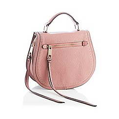 Nine by Savannah Miller - Pink studded faux leather 'Suze' cross-body bag