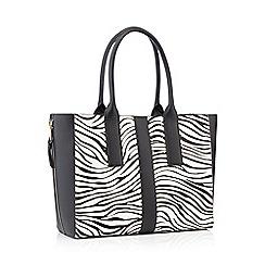 Nine by Savannah Miller - Multicoloured Zebra 'Evie' Large shopper bag