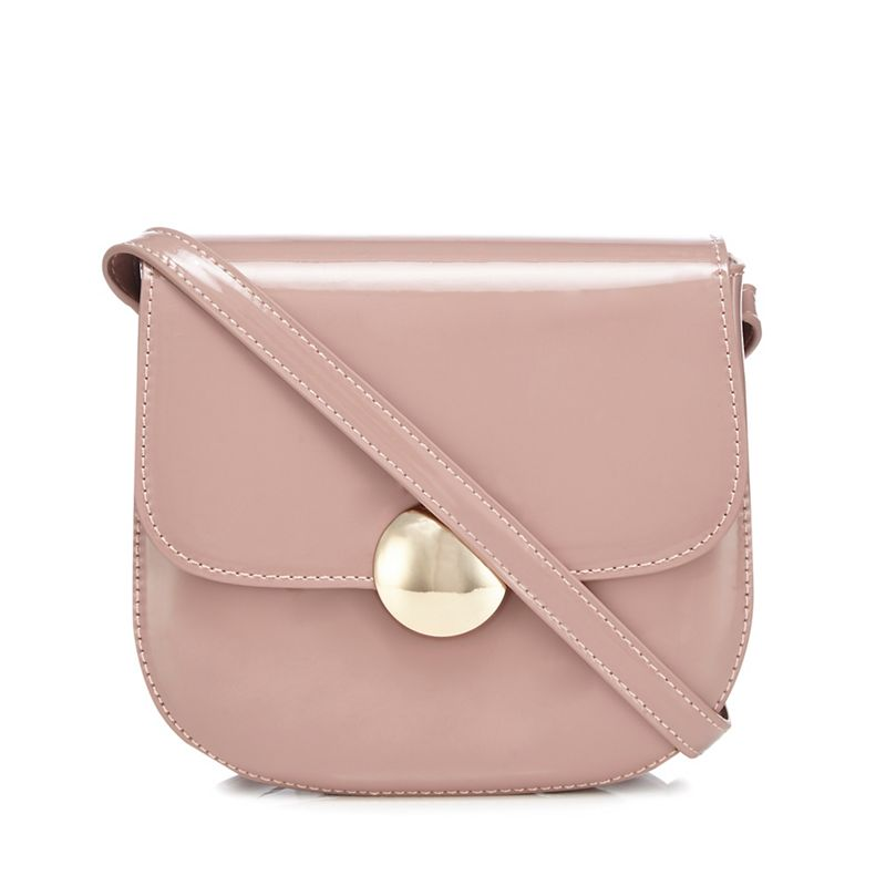 The Collection - Light Pink Patent Cross Body Bag