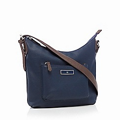 The Collection - Navy 'Scoop' cross body bag
