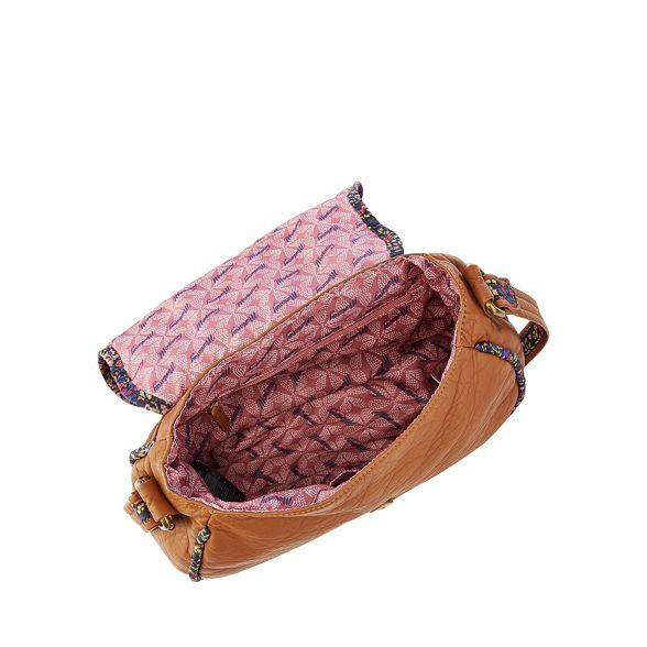 Tan bag floral Mantaray saddle trim ac4wT