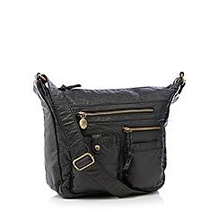 Mantaray - Black multi pocket hobo bag