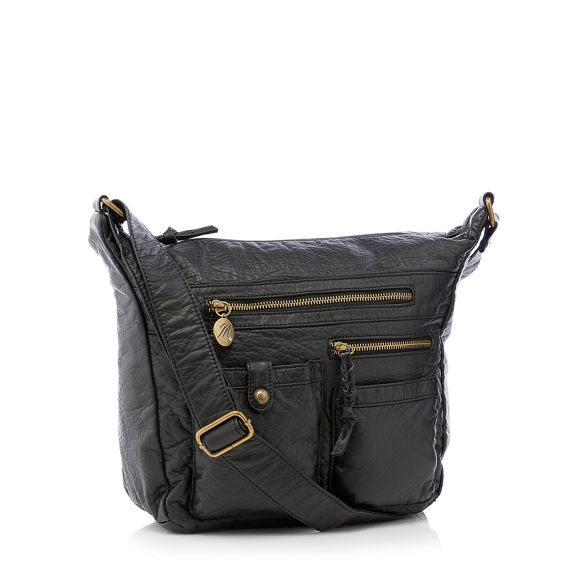 hobo Mantaray Black bag multi pocket HT4Ow4xna