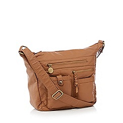 Mantaray - Tan multi pocket hobo bag