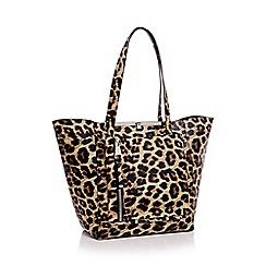 Faith - Leopard print winged shopper bag