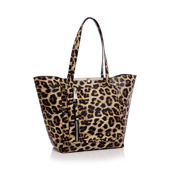 Faith bag shopper winged Leopard print wR70wx