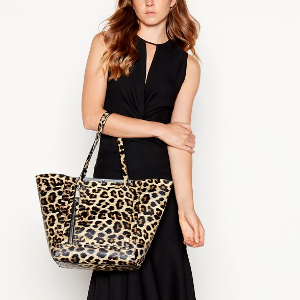 Faith Leopard bag winged print shopper OPOxrwF1q