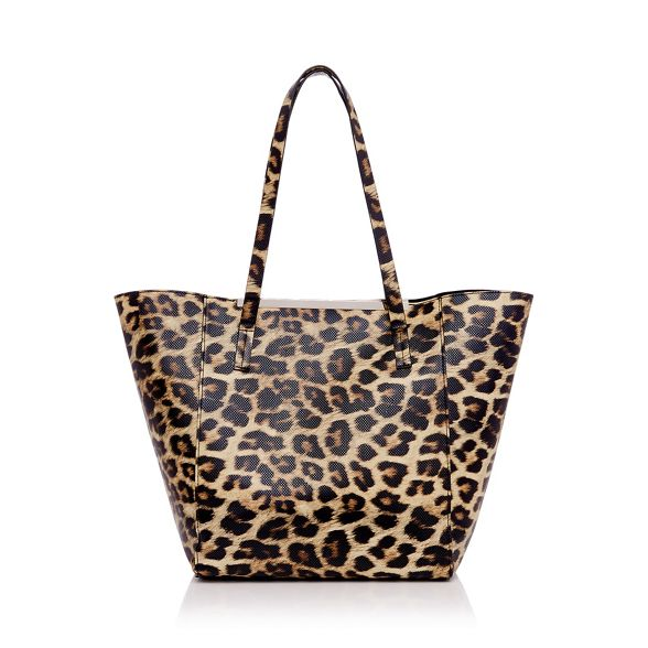 Leopard print shopper bag Faith winged PqdBn4