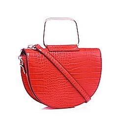 Faith - Red croc effect saddle bag