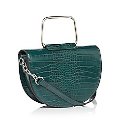 Faith - Green metal handle saddle bag