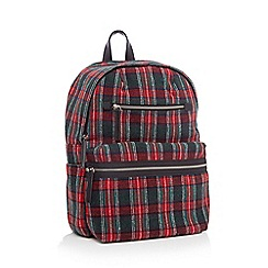 Faith - Check print zip front backpack