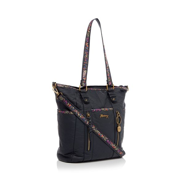 Navy shopper floral inlay bag Mantaray zgw0AdAq