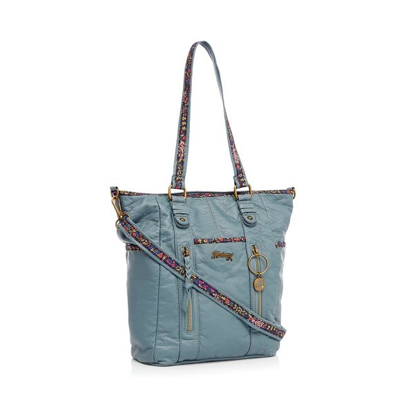 shopper bag Light floral blue Mantaray inlay w4pI4q