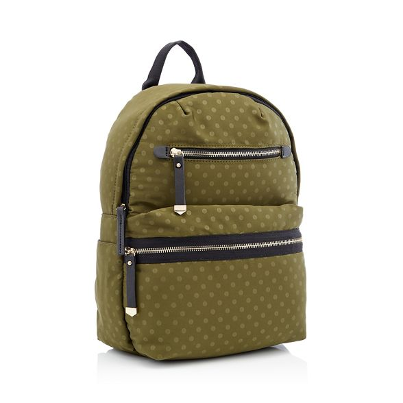 print Dark green double zip spot Red backpack Herring UqCwYqf