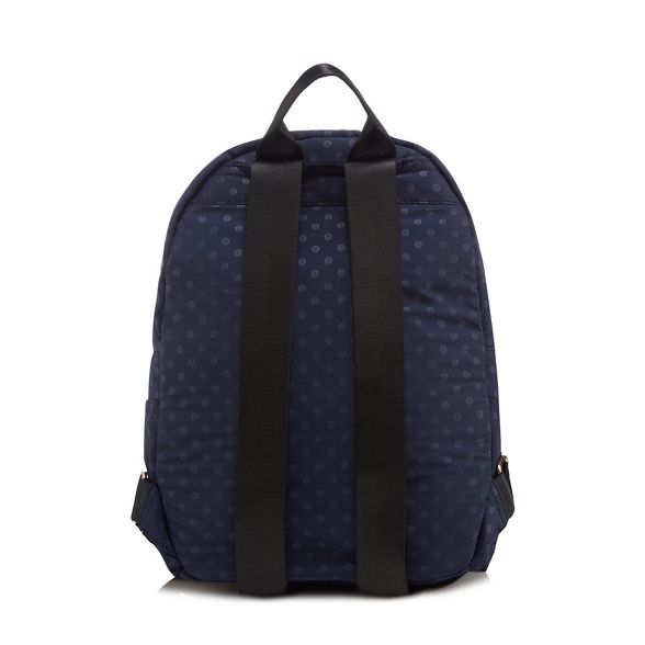 backpack Herring Red spot double zip Navy print 8xwB7f