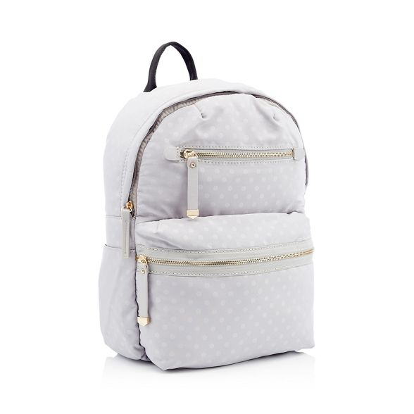 backpack zip grey spot Light Red print Herring double wqUOvT