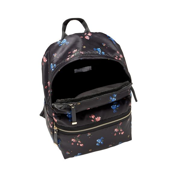 floral print Red Black Herring zip backpack double vwq7Iq4