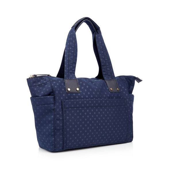 Navy shopper spot Herring Red print nylon bag 5FOaqCfWxw