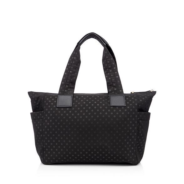 shopper Black Red nylon bag spot Herring print 5XOq6OAw