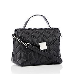 Faith - Black quilted cross body handbag