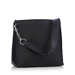 Faith - Black chain strap hobo bag