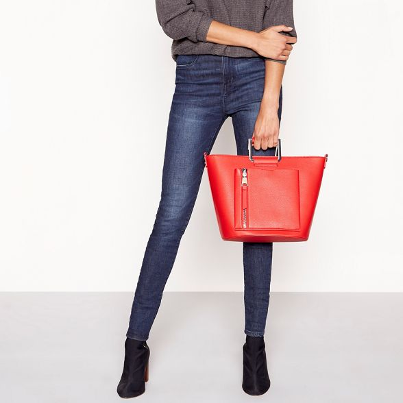 Faith leather Red grab bag faux rTxqrSpBw