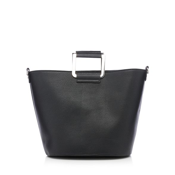 Black Faith bag leather faux grab Hwa0qd
