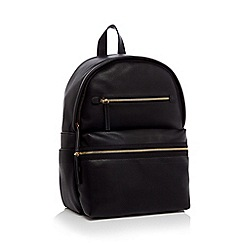 Faith - Black double zip backpack