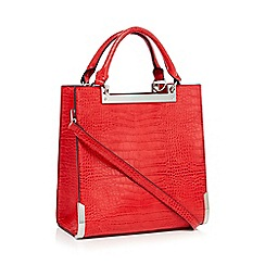 Faith - Red croc effect faux leather grab bag