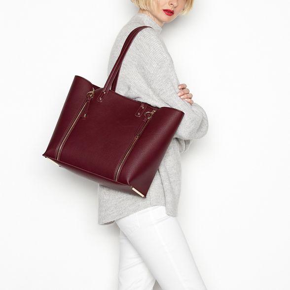 Wine shopper zip double Faith bag red xvqwFUwZ1