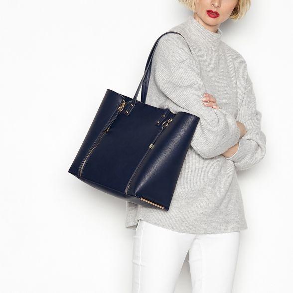 zip Faith shopper Navy double bag xfvwAfq