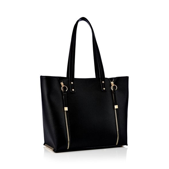 bag double zip Black Faith shopper ZBxf4cq
