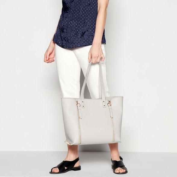 bag Faith double Grey shopper zip wzrI0qzO