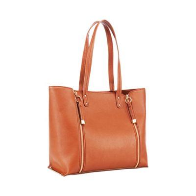 Faith   Tan Double Zip Shopper Bag by Faith