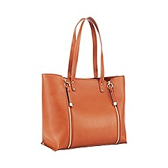 Faith - Tan double zip shopper bag