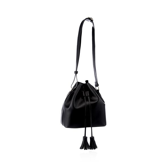 faux drawstring leather duffle Faith bag tassel Black P8R5xxAqw
