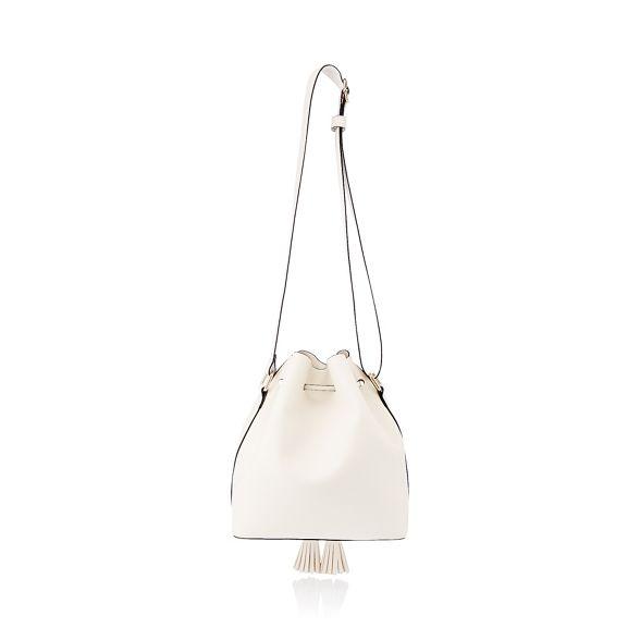 drawstring tassel bag duffle Faith leather White faux HnwqAOtOv