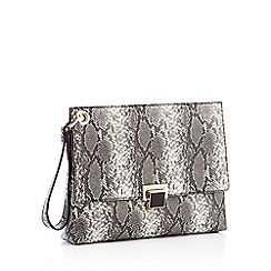 Faith - Grey snake print pouch