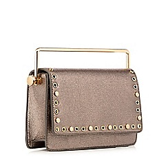 Faith - Multi eyelet stud glitter effect cross body bag