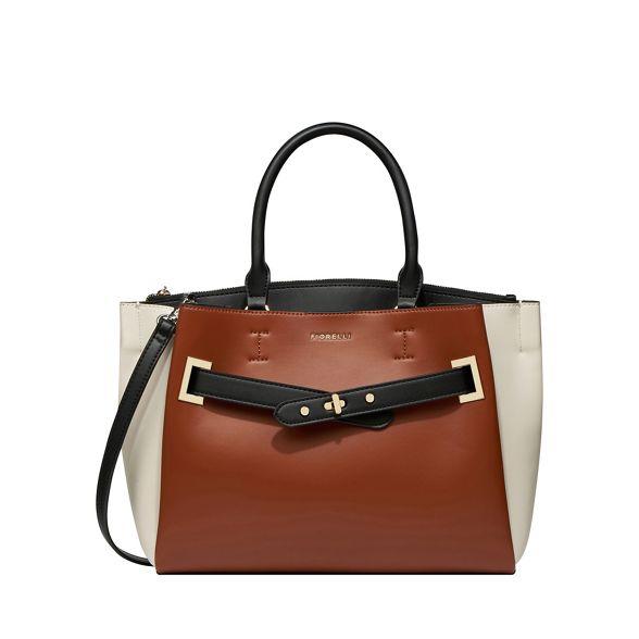 tote Fiorelli buckle 'Alma' front Tan bag q6qPCS