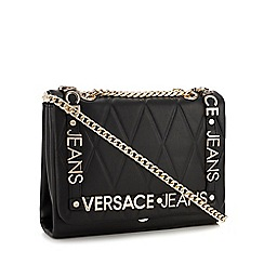 86cc8d870191 Versace Jeans - Black Quilted Logo Cross Body Bag
