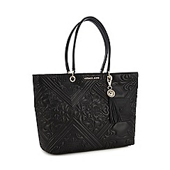 11c37128207 Versace Jeans - Black Embroidered Large Grab Bag
