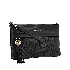 7ab54a53580 Versace Jeans - Black Embroidered Shoulder Bag