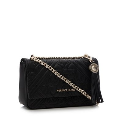 1ad0450f2ef Versace Jeans Black Embroidered Cross Body Bag   Debenhams