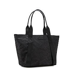KENDALL + KYLIE - Black camouflage print tote bag
