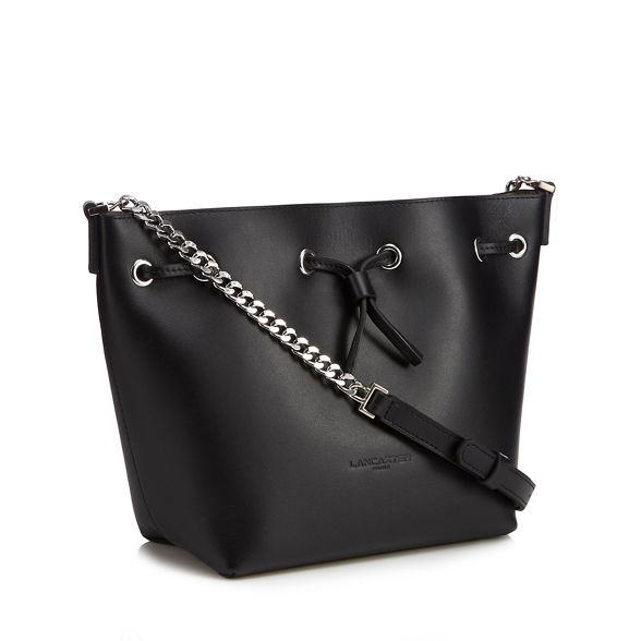 leather drawstring bucket Lancaster bag 'Parisienne' Black 1WqIWBxZ5
